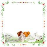Illustrazione dell'acquerello con la sposa e lo sposo Fotografie Stock