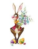 Illustrazione dell'acquerello, coniglietto di pasqua Immagini Stock
