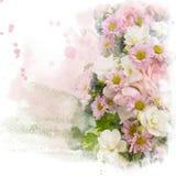 Illustrazione dell'acquerello del fiore Fotografie Stock