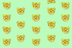 Illustrazione dell'acquerello del ghepardo, disegnata a mano royalty illustrazione gratis