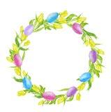 Illustrazione dell'acquerello di Pasqua Fotografie Stock Libere da Diritti