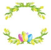 Illustrazione dell'acquerello di Pasqua Immagini Stock