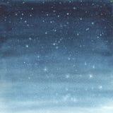 Illustrazione dell'acquerello di un cielo stellato Immagini Stock
