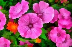 Illustrazione dell'acquerello, fiori Fotografia Stock