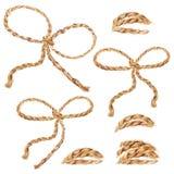 Illustrazione dell'acquerello Insieme delle corde del cavo illustrazione di stock