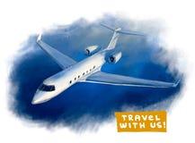 Illustrazione dell'aeroplano Immagine Stock Libera da Diritti