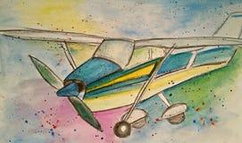 Illustrazione dell'aeroplano Fotografie Stock Libere da Diritti