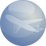 Illustrazione dell'aeroplano di viaggio æreo Fotografia Stock