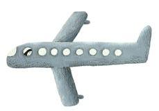 Illustrazione dell'aeroplano grigio Fotografia Stock Libera da Diritti