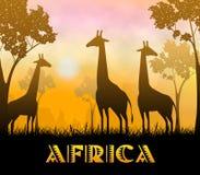 Illustrazione dell'Africa Safari Showing Wildlife Reserve 3d illustrazione vettoriale
