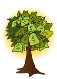 Illustrazione dell'albero del sacchetto dei soldi Fotografia Stock Libera da Diritti