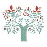 Illustrazione dell'albero di fantasia Fotografia Stock