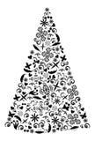 Illustrazione dell'albero di festa. Fotografia Stock Libera da Diritti