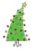 Illustrazione dell'albero di Natale dello scarabocchio Fotografia Stock