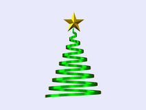 Illustrazione dell'albero di Natale su fondo bianco Fotografia Stock
