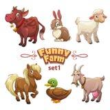 Illustrazione dell'allegra fattoria Immagine Stock