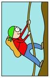 Illustrazione dell'alpinista Immagine Stock