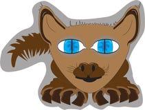 Illustrazione dell'animale domestico del gatto illustrazione vettoriale