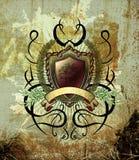Illustrazione dell'annata con gli elementi del tatuaggio Fotografia Stock Libera da Diritti