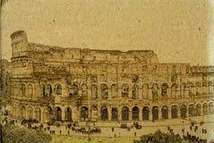Illustrazione dell'annata di colosseum di Roma Immagine Stock