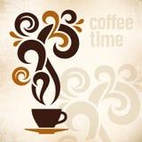 Illustrazione dell'annata di tempo del caffè Immagine Stock