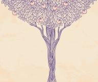 Illustrazione dell'annata di un albero Fotografie Stock Libere da Diritti