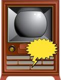 Illustrazione dell'annata TV illustrazione vettoriale