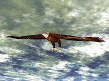 Illustrazione dell'aquila durante il volo Fotografie Stock Libere da Diritti