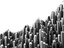 Illustrazione dell'argento 3d del grafico di successo di finanza di affari Fotografie Stock Libere da Diritti