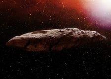 Illustrazione dell'asteroide di Oumuamua Immagini Stock Libere da Diritti