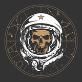 Illustrazione dell'astronauta del cranio illustrazione di stock