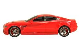 Illustrazione dell'automobile 3d di concetto isolata su fondo bianco royalty illustrazione gratis