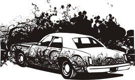 Illustrazione dell'automobile dei graffiti Fotografia Stock