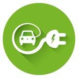Illustrazione dell'automobile elettrica Immagine Stock