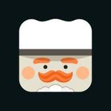 Illustrazione dell'avatar del cuoco unico Capo-fornello d'avanguardia Fotografia Stock