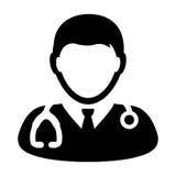 Illustrazione dell'avatar dello stetoscopio del dottore Icon Vector With Immagini Stock
