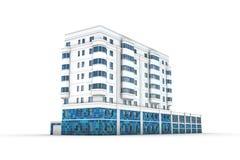 Illustrazione dell'edificio per uffici 3d Fotografia Stock