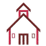 Illustrazione dell'edificio scolastico Immagini Stock Libere da Diritti