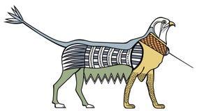 Illustrazione dell'Egiziano antico Griffith Sag Priorità bassa bianca illustrazione vettoriale