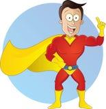 Illustrazione dell'eroe del fumetto Fotografia Stock Libera da Diritti