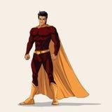Illustrazione dell'eroe eccellente nella posa stante illustrazione di stock