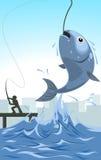 Illustrazione dell'esca del pesce del fumetto di vettore illustrazione di stock