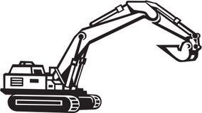 Illustrazione dell'escavatore Immagini Stock Libere da Diritti