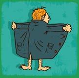 Illustrazione dell'esibizionista del fumetto, icona di vettore Fotografia Stock