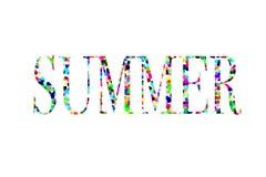 Illustrazione dell'estate di parola fotografia stock libera da diritti
