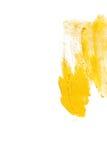 Illustrazione dell'estratto della macchia della pittura di struttura dell'acquerello dell'oro Colpo brillante della spazzola per  Fotografia Stock Libera da Diritti