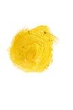 Illustrazione dell'estratto della macchia della pittura di struttura dell'acquerello dell'oro Colpo brillante della spazzola per  Immagini Stock
