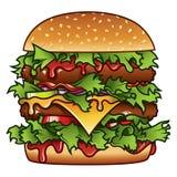 Illustrazione dell'hamburger Fotografie Stock Libere da Diritti