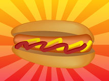 Illustrazione dell'hot dog illustrazione di stock