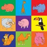 Illustrazione dell'icona degli animali di animazione Fotografie Stock